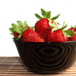 Strawberries on dish — Stock Photo