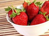 Strawberries on dish — Stock Photo