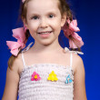 Stock Photo: Pigtails and bows
