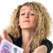 Business woman asks for money — Stock Photo #12137024