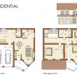 Stock Photo: Residential house plan
