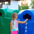 Stock Photo: Little girl and recycling