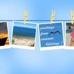 pozdrav z prázdnin — Stock fotografie