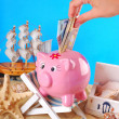 Stock Photo: Need money for summer holidays