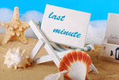 Last minute holidays — Foto de Stock