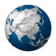 Artificial Earth - Asia — Stock Photo