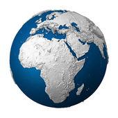 Künstliche erde - afrika — Stockfoto