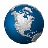 Artificial Earth - North America — Stock Photo