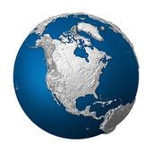 Artificial Earth - North America — Stock Photo