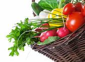 Vegetables Basket — Stock Photo