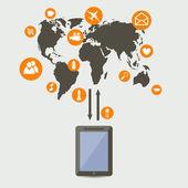 Social network — Vettoriale Stock