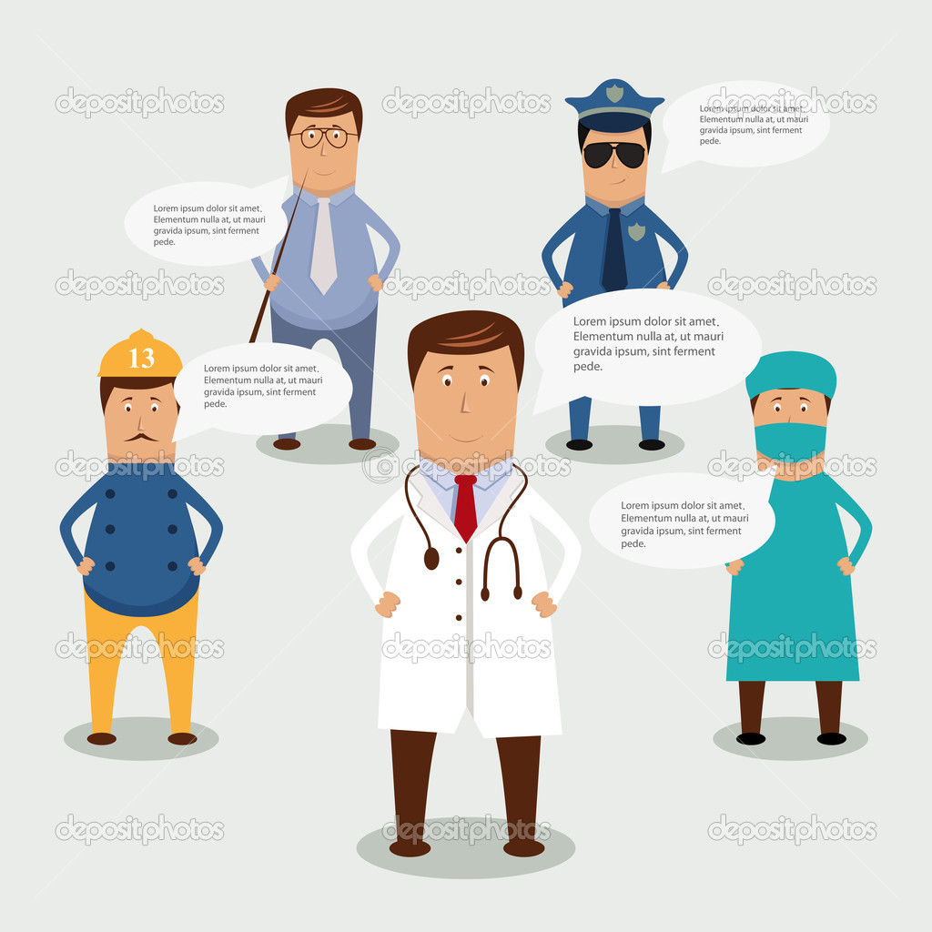Vector professional occupation set — Stock Vector #10806271