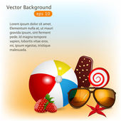 Summer — Vettoriale Stock