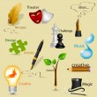 Royalty-Free Stock Vector Image: Art icons