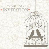 Uitnodiging bruiloft — Stockvector