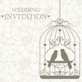 Wedding invitation — Stok Vektör