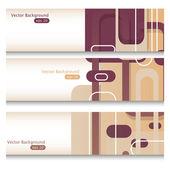 Purple banners — Vecteur