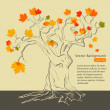 Autumn ltree — Stock Vector
