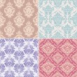 Royalty-Free Stock Vector Image: Seamless floral patterns