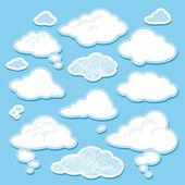 Wektor zestaw kreskówka chmury — Wektor stockowy