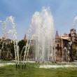 "Fountain Square ""Catalunya"" in Barcelona — Stock Photo"