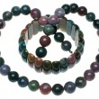 Stock Photo: Bracelet and beads from stone
