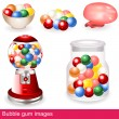 Stock Vector: Bubble gum images