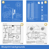 Blueprint backgrounds — Stock Vector
