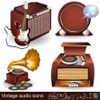 Stock Vector: Vintage audio icons 1