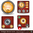Stock Vector: Vintage device icons