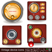 Vintage device icons — Stock Vector