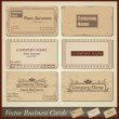 Vector old-style retro vintage business cards - both front and back side — Stock Vector