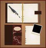 Vintage livro aberto — Vetorial Stock