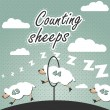Stock Vector: Counting sheep