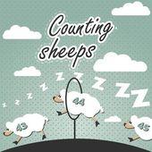 Counting sheep — Stock Vector