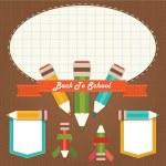 Back to school design elements — Stock Vector #11614227