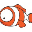 Royalty-Free Stock 矢量图片: Big-eyed clownfish