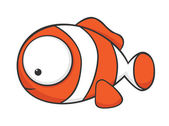 Big-eyed clownfish — Stock Vector