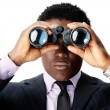 Binocular african man - Stock Photo