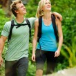 Happy outdoor couple - Stock Photo