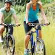 Mountainbike couple outdoors — Stock Photo #11355891