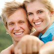 Smiling joy happy blonde couple — Stock Photo #11355999