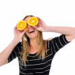 Orange for eyes — Stock Photo