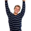 Excited man in casual attire — Stock Photo