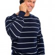 Smiling man on mobile phone — Stock Photo #11362583