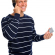Friendly man on cell phone — Stock Photo #11362590