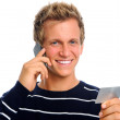 Friendly man on cell phone — Stock Photo #11362607