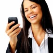 Laughing text message — Stock Photo