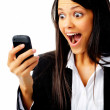 Phone expression face — Stock Photo