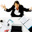 Stressed businesswoman — Stock Photo